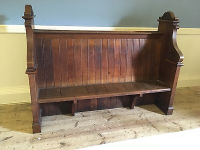 Solid Oak Church Pew Bench