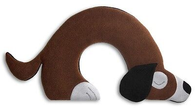 Brown Bobby Dog Unscented Anti-allergenic Fleece Heatable Neck Warmer Pillow
