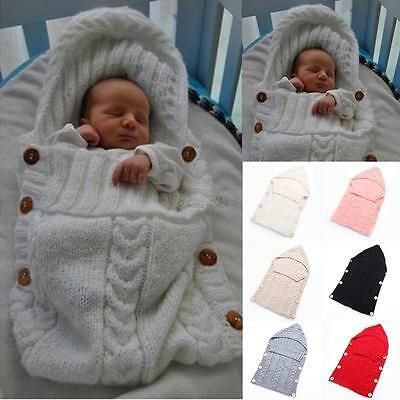 0-12M Newborn Baby Thermal Sleeping Bag Blanket Sleep Sack Stroller Wrap Swaddle