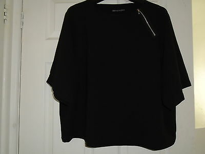Definitions, New Easy To Wear, Black Detailed Top  Size 16