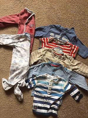 Baby Boy Clothes Bundle 0-3 Months Tshirts / Babygrows