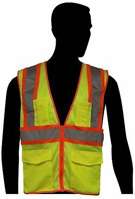 Liberty Glove & Safety HiVizGard Polyester All Mesh Class 2 Safety Vest w...