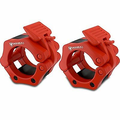 """Barbell Collars (Pair) - Locking 2"""" Olympic Size Barbell Clamp Clips - Great ..."""