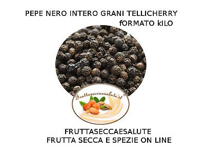 Pepe Nero  In Grani Alta Qualita' Tellicherry 1 Kg