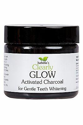 Isabella?s Clearly GLOW Best Natural Teeth Whitening Activated Charcoal Powde...