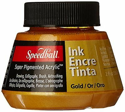 Speedball Art Products 2-Ounce Super Pigmented Acrylic Ink, Gold