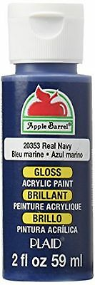 Apple Barrel Acrylic Paint in Assorted Colors (2-Ounce), 20353 Gloss Real Navy