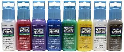 Plaid Gallery Glass Window Color Beginner Set (2-Ounce), GG8SET (8-Pack)