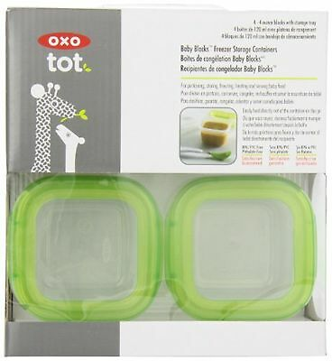 Oxo Tot 6112300 Baby Blocks Freezer Storage Containers (2-Ounces) (Green)