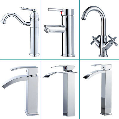 Modern Chrome Waterfall Bathroom Basin Sink Mixer Tap Set Bath Filler Shower Tap