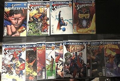 SUPERMAN ACTION COMICS DC Rebirth LOT #1,2,3,4,5,6,7,8 AND MORE SEE BELOW