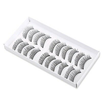 "10 paia 20 ciglia finte naturali 10 pair Eyelashes fake Natural nastro 1,1 ""107"""