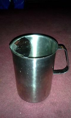 Vintage Vollrath 8113 Stainless Steel 3 Qt Quart Pitcher Ice Water