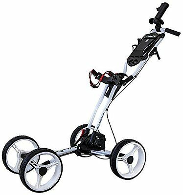 GolferPal EasyPal Electric Auto-Folding/Unfolding Golf Push Cart White