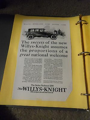 """Print Ad """" The Sedan New Illys-Kknight The Success Of The Willy's Knight"""