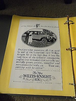 """Print Ad """" The New Willys-Knight Six To Discerning Motorists,"""