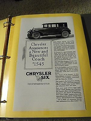 """Print Ad """" Chrysler Announces A New And Beautiful Coach $1545"""