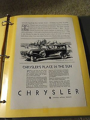 Print Ad Chrysler A Place In The Sun