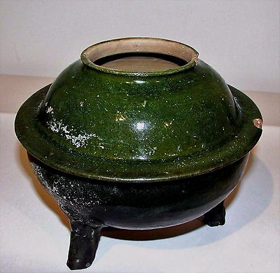 "Antique Chinese Tang Sancai Ware Tomb Burial Pottery Incense Burner 6"" h Large"