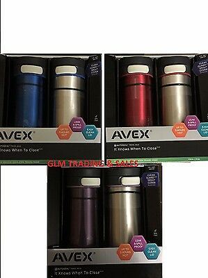 2x Avex Contigo Coffee Travel Mug Thermos Autoseal Eco Reusable Coffee Cup Flask