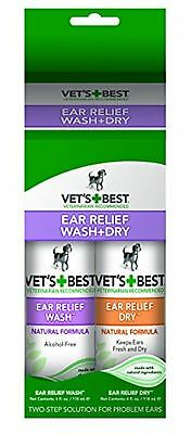 Vet's Best 2-Pack Ear Relief Wash and Dry