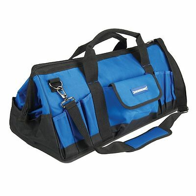 #268974 Silverline Tool Bag Hard Base Wide Mouth Power Hand Toolbox box Case