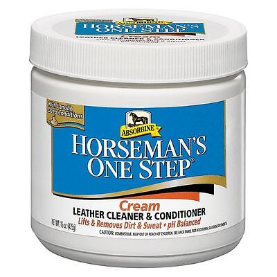 Absorbine Horseman's One Step Riding Tack Cleaning Equipment Leather Cream 425ML