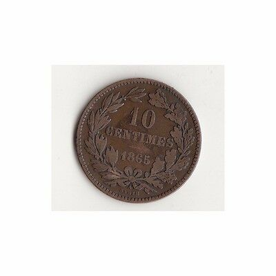 Luxemburg 10 Centimes 1865-A Nr.24/3/17