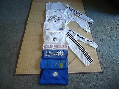 Lot of (8) Boston Marathon T Shirts Men's S, M, L, and XL 1983-1999