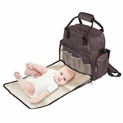 Dazone® Baby Diaper Backpack Nappy Bag Changing Bag Waterproof Handbag Shoulder