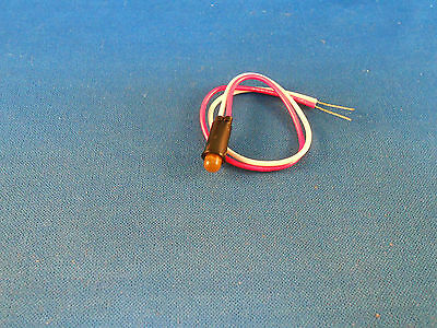 5102H3-5V Amber Light Emitting Diode 2 Wire Leads  New Old Stock