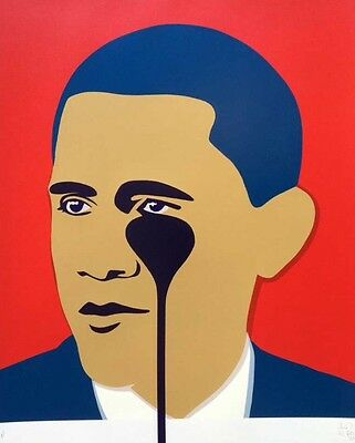 Pure Evil - Crying Obama Red Limited Edition Print
