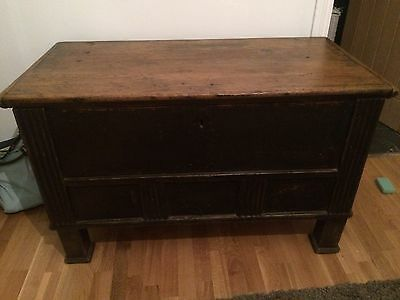 Beautiful Rare Antique 19th Century Wooden Chest