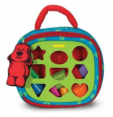 Melissa & Doug K's Kids Take-Along Shape Sorter Baby Toy With 2-Sided Act...