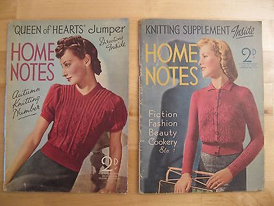 Home Notes Vintage Magazines - 1 Lot Of 2 Magazines
