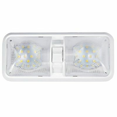 Kohree RV LED Ceiling Double Dome Light Fixture with ON/OFF Switch Interior L...