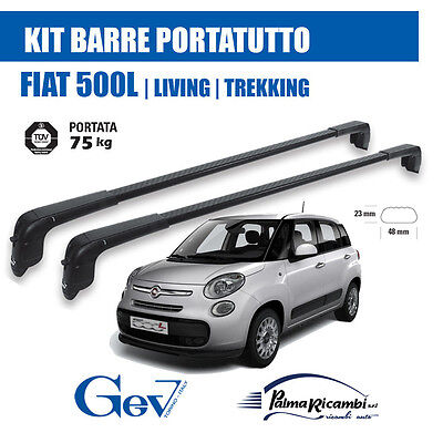 5501+ 70 BARRE PORTATUTTO GEV + KIT per FIAT 500L