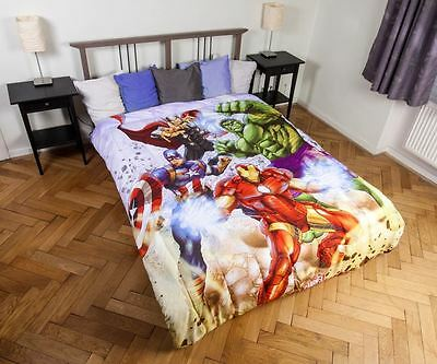 Marvel Avengers Quilted Bedspread 180 x 260 CM By BestTrend