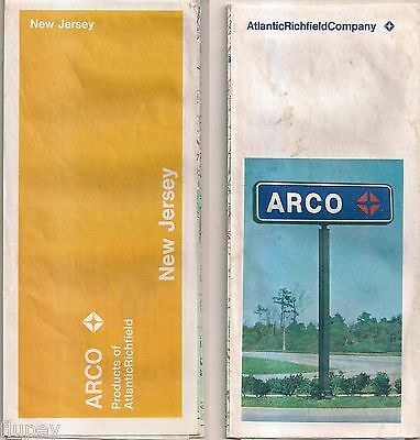 1971 ARCO Folded Road Map New Jersey