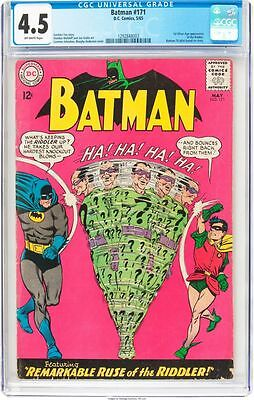 Batman #171 Ggc 4.5 1St Silver Age Appearance Of The Riddler Cgc #1292848003