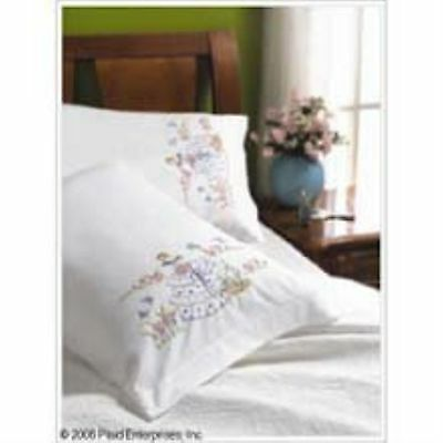 Bucilla Stamped Embroidery Pillow Case Pair, 20 by 30-Inch, 45367 Garden Girl