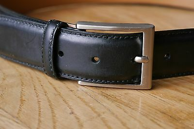 Men's MAGNANNI 1078 'Catania' Black Leather Belt - Size 34