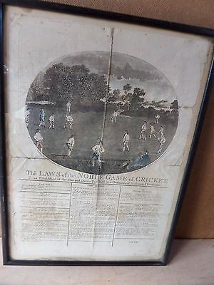 Original Cricket Print 1785
