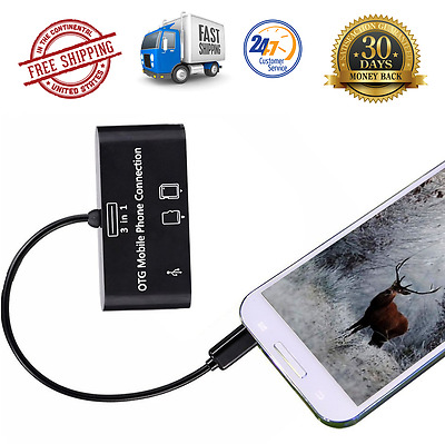 3 in 1 Trail Game Scouting Camera Viewer Card Reader Android Phones Micro USB SD