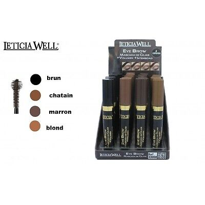 Mascara SPECIAL sourcils leticia well 4 couleurs volume intensité du regard