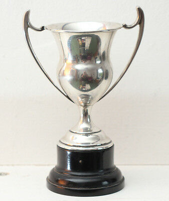Sterling Silver Trophy Cup with plinth fully hallmarked 1926 not engraved