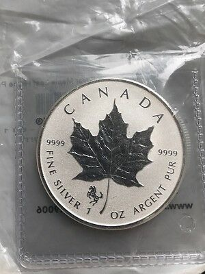 2014 Canadian 1 oz. Silver Reverse Proof Maple Leaf Coin Horse Privy
