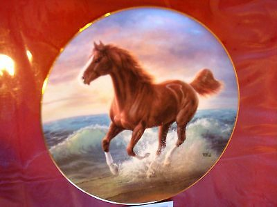 SURF DANCER  HORSE PLATE BY CHUCK DeHAAN  WITH COA