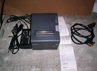 Epson TM-T88V Thermal Receipt Printer w/ Power Supply Cable M244A Guaranteed