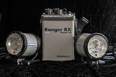 Elinchrom Ranger RX Speed AS w/ 2 Ranger A Heads+ xtras Free shipping